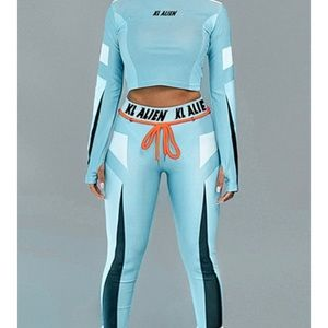 Two piece long sleeve and legging set